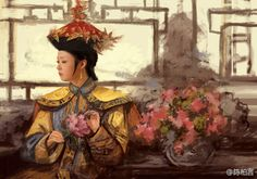 Queen of Qing Dynasty, China Chinese Clothing Traditional, Traditional Fashion, Chinese Design, Chinese Style, Oriental Fashion, Oriental Style, Chinese Fashion, Empresses In The Palace, Ancient Beauty