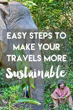 Want to make your style of travel more sustainable so we can protect this planet for our children? Click for some easy steps to make your travels more sustainable + why it's so important!