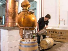 A copper still, this time making gin.