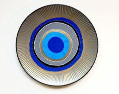 Evil Eye Decor Decorative Plate Blue Evil Eye by biancafreitas