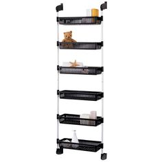 "Features: -Organizer fits and can easily be installed over any door measuring up to 1.75"" depth. -Convenient over door basket unit with 6 plastic baskets. -Suitable for any kitchen, closets, storag"