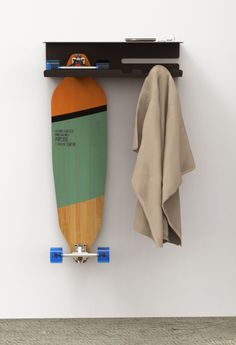 Wall Ride (PREVIEW) by zanocchi & starke, via Behance Bicycle Garage, Bathroom Hooks, Surfing, Longboards, Crafty, Storage, Skateboard, Bedroom Ideas, Behance