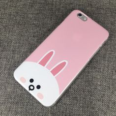 LF103 LINE Cony Phone Case Line Cony, Silicone Phone Case, Kawaii, Phone Cases, Art, Cape Clothing, Cases, Products, Art Background