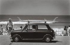 Mini with a surf board=FUN