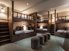 Majestic Contemporary Design in The Hamptons - Sagaponack Estate Bunk Bed Rooms, Bunk Beds Built In, Bedrooms, Room Design Bedroom, Bedroom Decor, Dream Home Design, House Design, Bunk Bed Designs, Dream Rooms