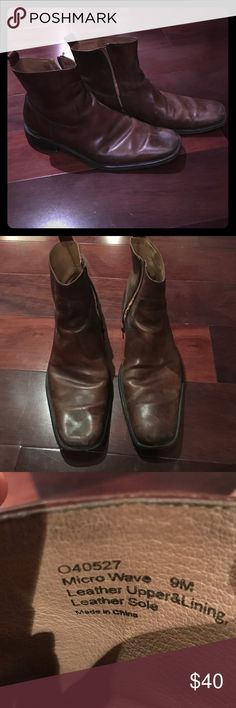 Kenneth Cole leather boots Men's Kenneth Cole leather boots worn but it good condition Kenneth Cole Shoes Boots