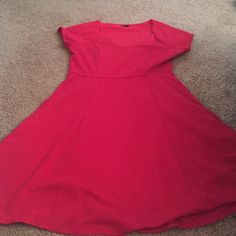 Torrid Red Dress BRand New without tags. Never worn. 40C chest and it is too revealing for my taste. torrid Dresses Midi