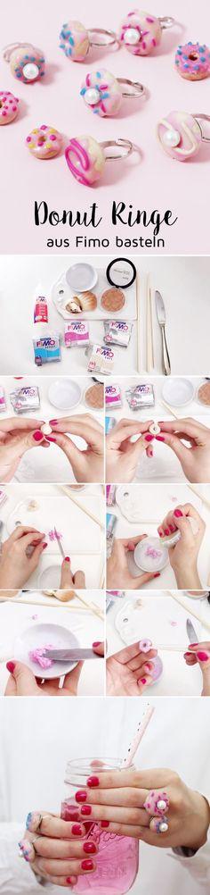 DIY Donuts aus Fimo selber machen & Ringe basteln