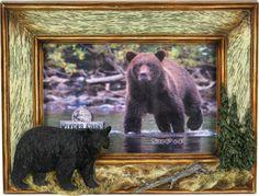 hunting frames bear picture frame