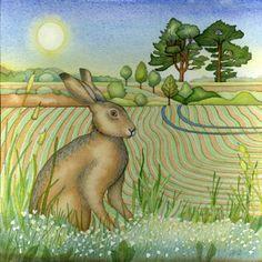 Assis Hare (print et de la carte)