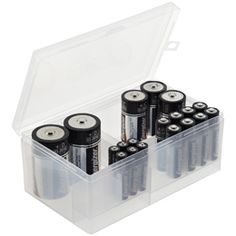 The Container Store > Multi-Battery Storage Box - keeps the fresh batteries corraled from the spent ones waiting to be recycled in my battery drawer.