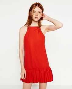 DRESS WITH RUFFLE HEM-View All-DRESSES-WOMAN-SALE | ZARA United States