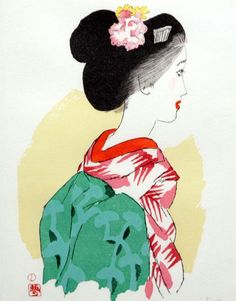 """omoroijapan: """"YumejiTakehisa is famous for a type of picture which portrays the beauty of women like this. Japanese Textiles, Japanese Prints, Japanese Art, Geisha, Art Occidental, All About Japan, Famous Words, Drawing Reference, Prints"""