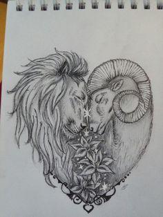 Sternzeichen, Löwe und Widder , Herz