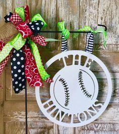 Baseball Monogrammed Mini Flag, Sports Flags, Monograms, Wall Decor by SpecialgiftsbyTammy on Etsy