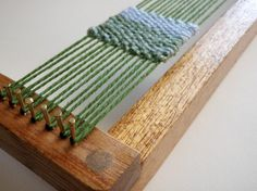 Weaving Loom Kit for Hand Weaving  Oak Finish by SewNina on Etsy, $36.00