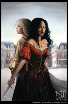 lysandra, celaena, and throne of glass image