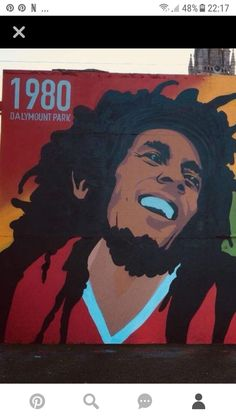 Marley mural at dalymount park Dublin he played there in Robert Nesta, Bob Marley, Reggae, Dublin, First Love, Posters, Park, Gallery, Drawings