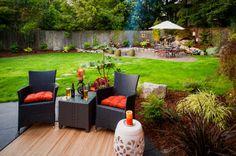♥♥♥ Дизайн двора частного дома: фото и современный ландшафтный дизайн двора…