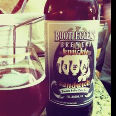 Knuckle Sandwich from Bootlegger's Brewery Believe the hype. Beverages, Drinks, Root Beer, Brewery, Ale, Canning, Mugs, Food, Beer