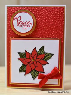 This was created with the Reason for the Season Stamp Set and Softly Falling Embossing Folder.