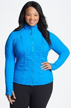 Zella 'Trinity' Jacket   Love the color, it's fitted and it's wicking. Of course, it's also pricey.