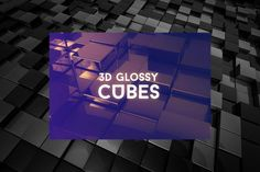 Free 3D Glossy Cube Backgrounds