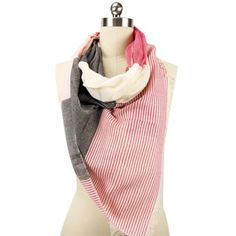 Mixed Print Scarf Pink Grey, 23€, now featured on Fab.