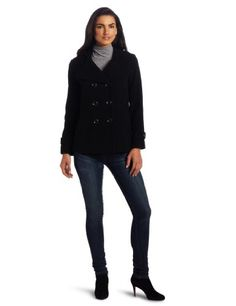 #Kenneth #Cole Women's Double Breasted Pea #Coat       SEXY JACKET       http://amzn.to/H8Vbx3