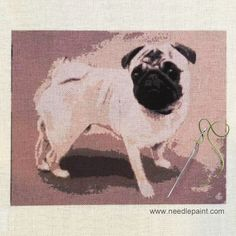Find a wide selection of needlepoint kits, belts, pillows, Christmas stockings, and create your own custom needlepoint kit at Needlepaint. Needlepoint Kits, Needlepoint Canvases, Pugs, Christmas Stockings, Your Dog, Stitches, Dog Lovers, Diy Crafts, Etsy Shop