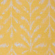 Kaftor Leaf Sunglow. Available printed on linen, cotton, cotton linen blends. © Ellen Eden
