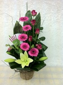 Modern Flower Arrangements on Modern Arrangement Of Gerberas Lilies And Roses By Roses2go
