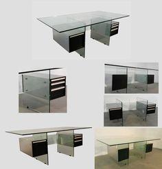 bureau en verre on pinterest work desk bureau verre and desks. Black Bedroom Furniture Sets. Home Design Ideas
