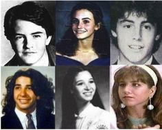 """Haha, the cast of """"Friends"""" before their big breaks!    Chandler, Monica, Joey, Ross, Phoebe and Rachel :)"""