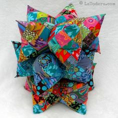 Star Pillow and Pincushion Tutorial Pattern Patchwork by LaTodera