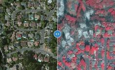Updated: Annadel/Kenwood to Napa 10/18, SR 10/12. Satellite fire map w/address search & compare mode. By Overview News © Digital Globe. Hosting by Mapbox