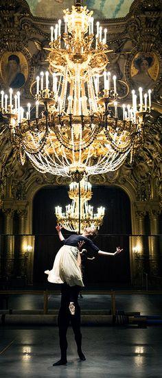 Dorothée Gilbert & Hugo Marchand in the Foyer of the Opera Garnier   Photo by James Bort   thebrunette-one