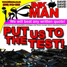 Ink #Cartridges & #Toners we guarantee any written #quote will be beaten!  #FreeDelivery #SouthAfrica