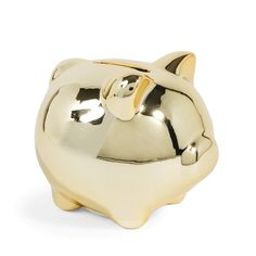 Tirelire cochon en céramique dorée GOLDY PIGGY | Maisons du Monde