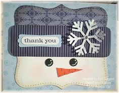 stampin top note die snowman  | Stampin Up! Top Note Snowman Kyla Scoggins / Papercraft - Juxtapost