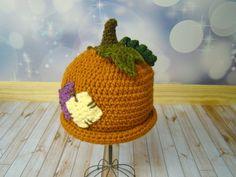 Toddler Pumpkin Hat Photography Prop Girl or Boy etsy via Etsy