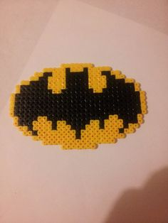 Perler Bead Designs, 3d Perler Bead, Batman Logo, Pixel Art, Perler Beads Pegboard, Hama Mini, Perler Patterns, Fuse Beads, Crochet Chart