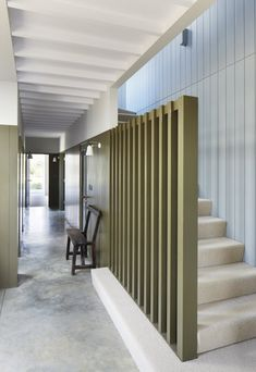 Concrete floors that aren't too polished- Long Farm by Lucy Marston