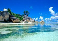 Seychelles, plaża - fototapeta . Pat31 - Galeria FLASH - eplakaty.pl