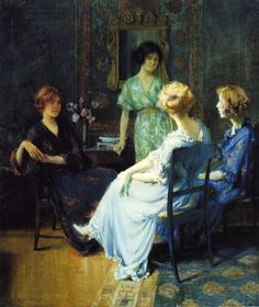 """Friends"" by Francis Coates Jones (1857-1932)."