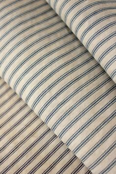Antique French ticking ~ lovely vintage Fabric ~ ideal for French country, primitive, rustic or Gustavian / Swedish interiors ~ www.textiletrunk.com
