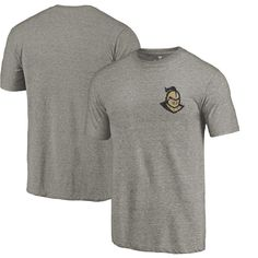 UCF Knights Fanatics Branded Primary Logo Left Chest Distressed Tri-Blend T-Shirt - Gray