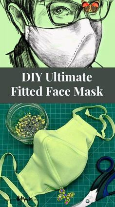 DIY Ultimate Fitted Face Mask - Made By Barb - unique designer pattern  <br> This is not the typical mask pattern, custom designed to make some improvements where others lack. Free pattern for this Ultimate DIY Fitted Face Mask Sewing Patterns Free, Sewing Tutorials, Sewing Hacks, Free Pattern, Sewing Projects, Pocket Pattern, Hair Tutorials, Clothes Patterns, Free Sewing