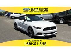 2016 White Ford Mustang EcoBoost Premium 37233P Ford Mustang Ecoboost, 2017 Ford Mustang