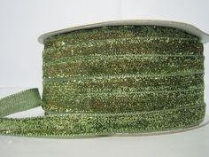Craft supplies and Handmade Tassels by ichimylove Glitter Ribbon, Green Glitter, Bulk Ribbon, How To Make Headbands, Purse Handles, Green Ribbon, Fun Projects, Sale Items, Decorative Pillows